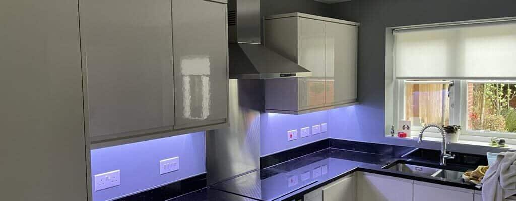 Kitchen under cabinet lighting RGB LED
